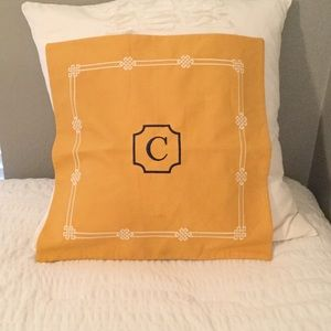Pottery Barn Monogrammed Pillow NWT
